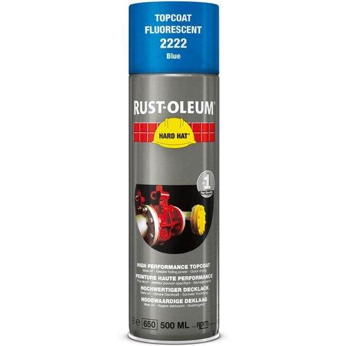 Rust Oleum Rust Oleum Hard Hat Fluorescent Spray Paint Blue 500ml