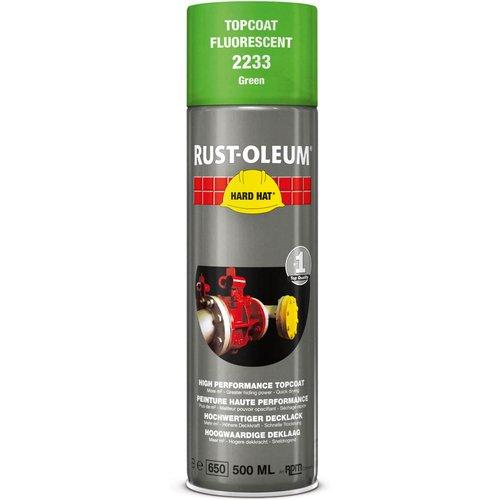 Rust Oleum Rust Oleum Hard Hat Fluorescent Spray Paint Green 500ml