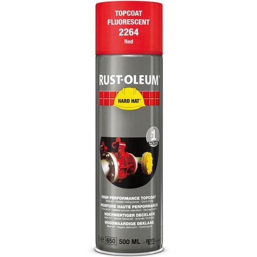 Rust Oleum RUST-OLEUM 2264 Hard Hat Topcoat, Clear Visible, Fluorescent red