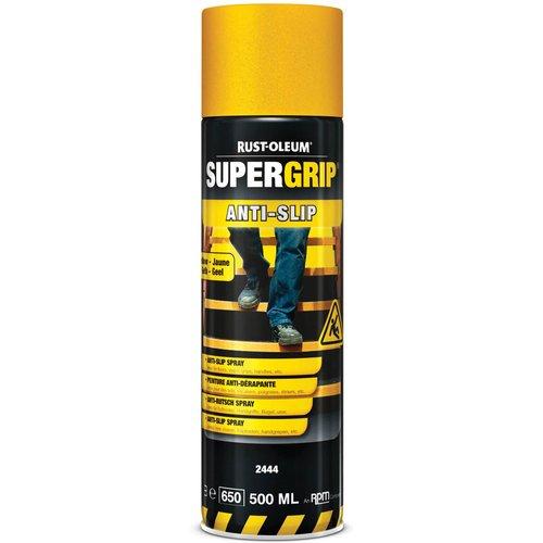 Rust Oleum RUST-OLEUM 2444 Supergrip Anti-Slip Spray, Non-Skid In A Second, Safety yellow