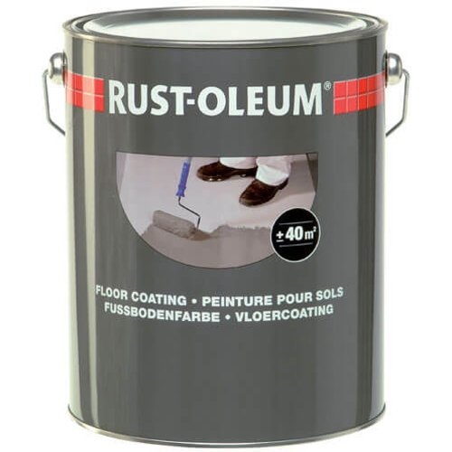 Rust Oleum Rust Oleum High Gloss Floor Paint Light Grey 750ml