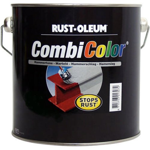 Rust Oleum Rust Oleum CombiColor Hammertone Metal Paint Dark Green 750ml