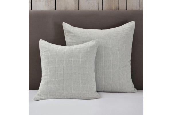Portland Cushion Cover White Blue Medium Square