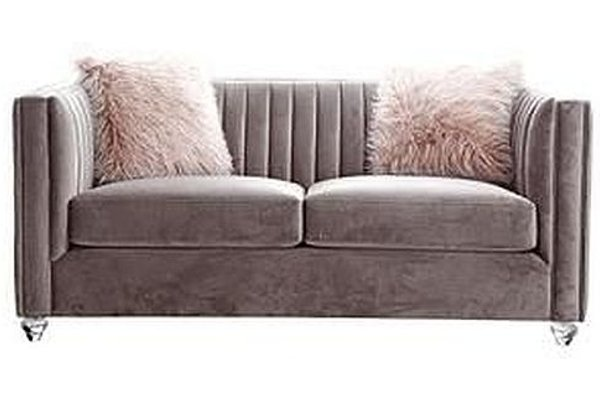 Crawford Pink 2 Seater Fabric Sofa