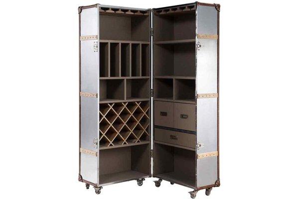 Aluminium Tall Vintage Drinks Cabinet