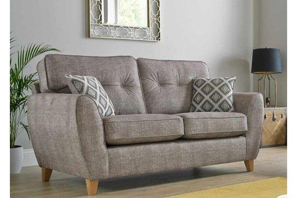 Maya Fabric Wheat 3 Seater Sofa Settee Upholsteredamphellip