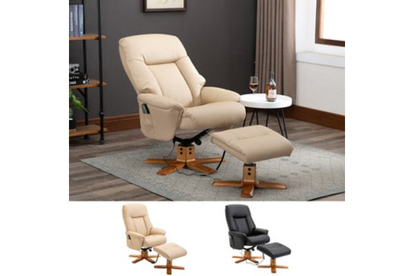 10 Point Massage Sofa Armchair Chair Beige
