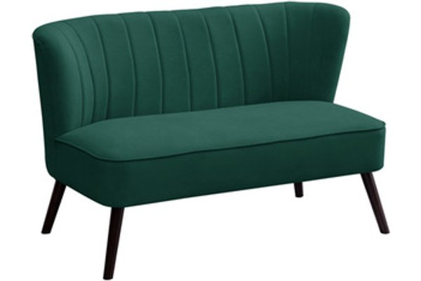 2 Seat Accent Chair Green