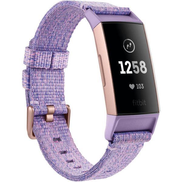 Fitbit Charge 3 Special Edition Fitness Band in Lavender