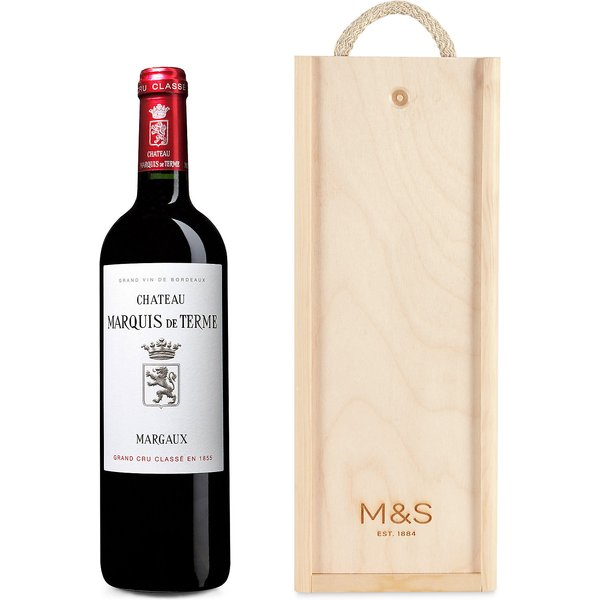 Château Marquis De Terme - Single Bottle with Wooden Presentation Box