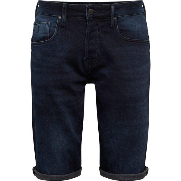 JACK & JONES Lange Indigoknit Jeansshorts Herren Blau