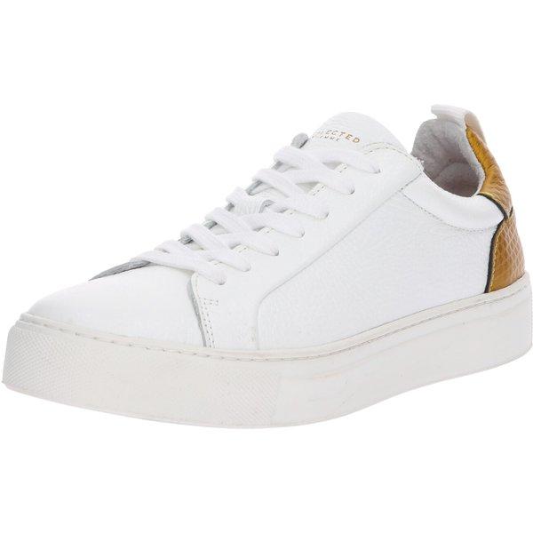 SELECTED Leder Sportschuhe Damen Gold; White (16064293)