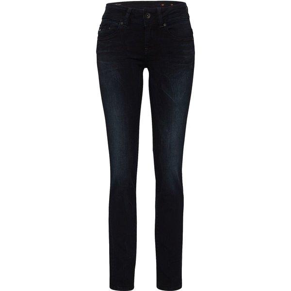 G-Star Midge Saddle Mid Waist Straight Jeans dark aged