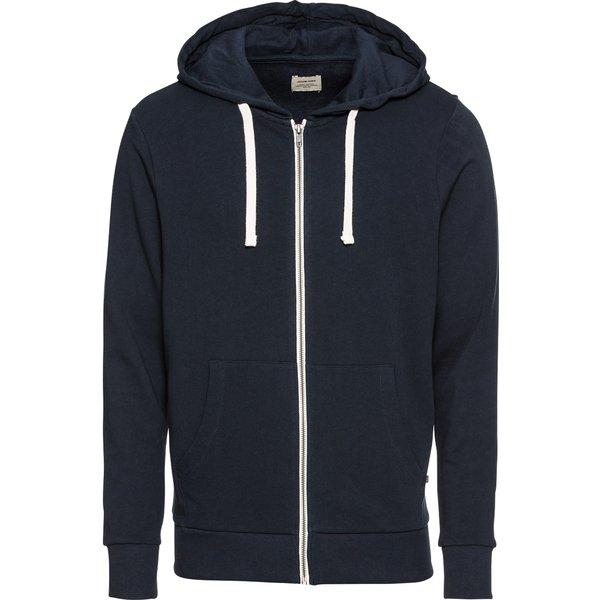 Jack & Jones Essentials Zip Through Hoodie - Grey