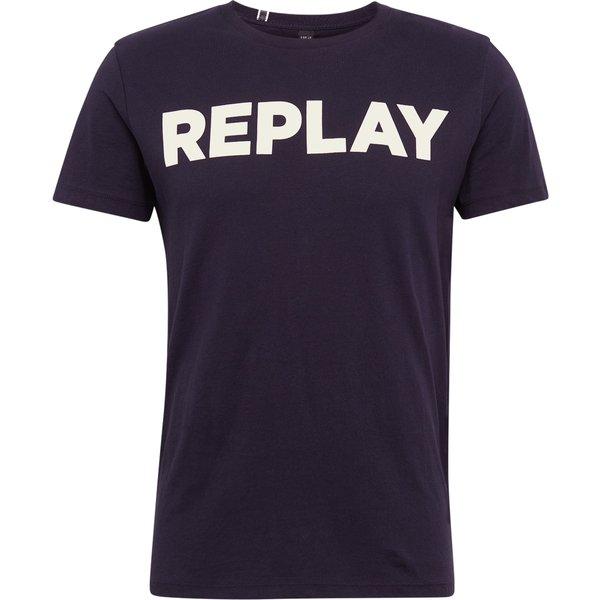 REPLAY shirt T-Shirts blau Herren Gr. 48
