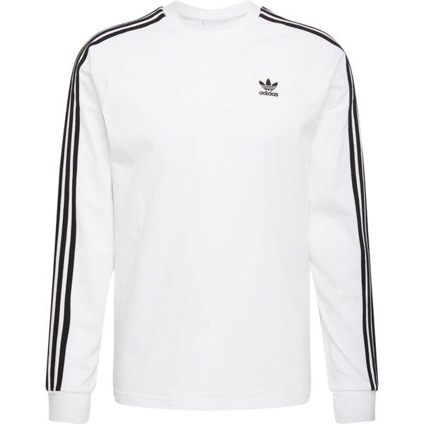 ADIDAS ORIGINALS Sweatshirt 'LS T' schwarz / weiß