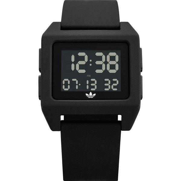 adidas SP1 Archive digital silicone watch in black - Black