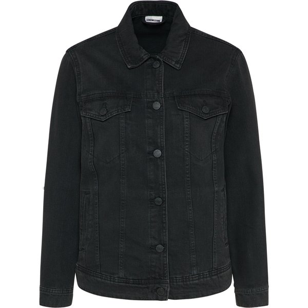 Noisy May oversized denim jacket in black - Black
