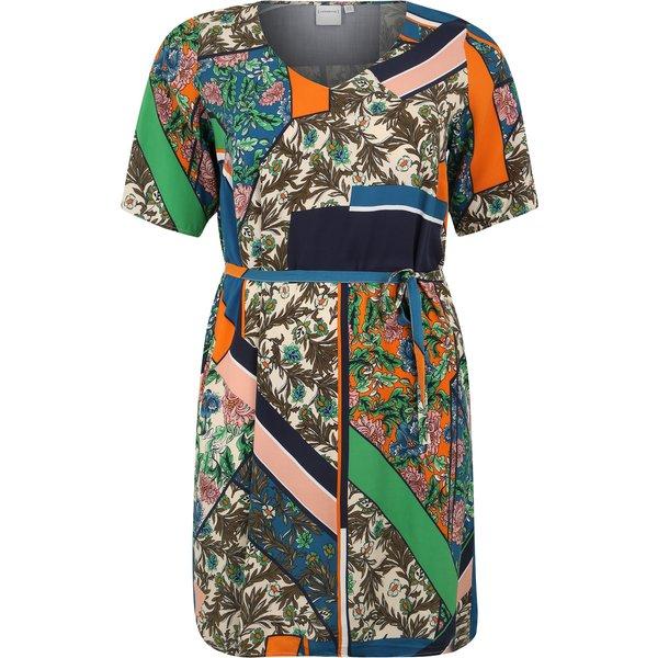 JUNAROSE Kleid Mit Allover-print Kleid Damen Beige