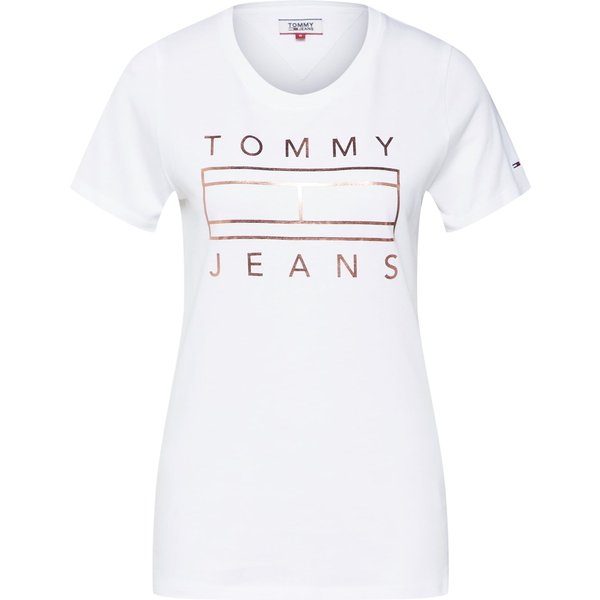 Tommy Jeans T-shirt, col rond, manches courtes S femme