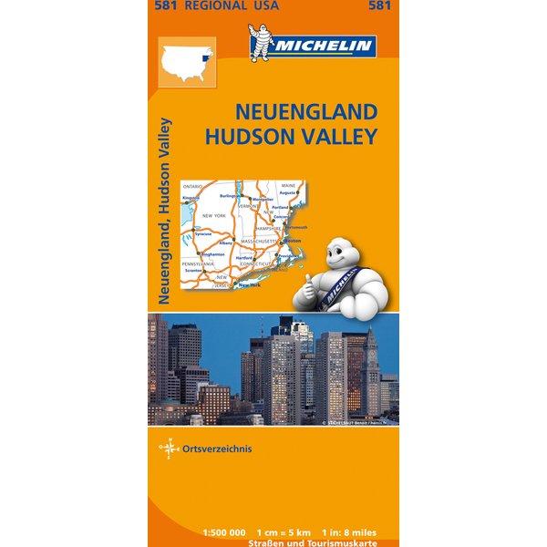Michelin Karte Neuengland, Hudson Valley
