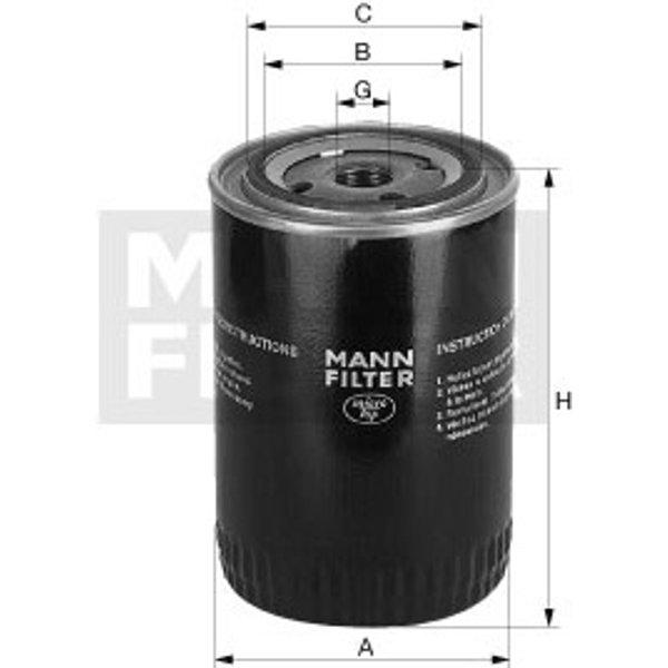 MANN FILTER Filtre a huile WP928/81 (WP 928/81)