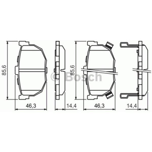 Bosch 0986424418 / BP208 Disc Brake Rear Axle Break Pad Set
