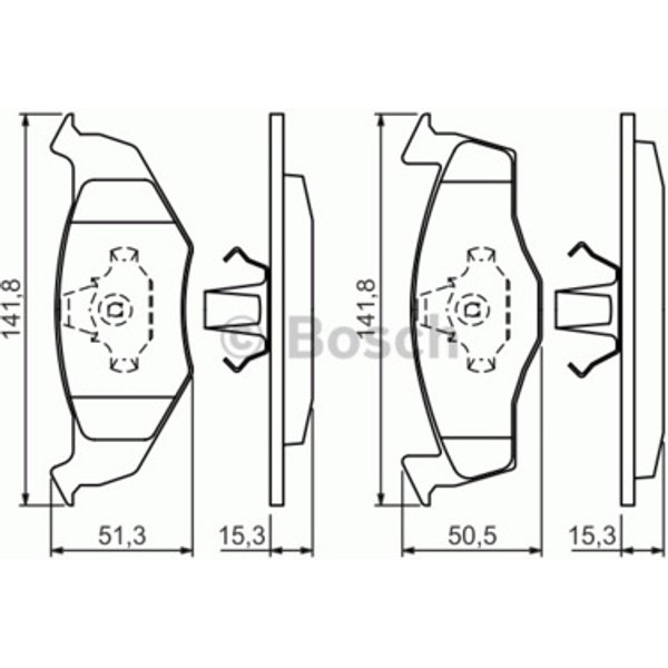 Bosch 0986424449 / BP218 Disc Brake Front Axle Break Pad Set