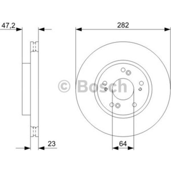 BOSCH - Disque de frein (Composition/Emballage)