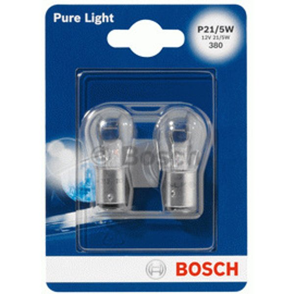 Bosch 684152 Pure Light 2 Ampoules P21 / 5W 12 V 21 / 5W