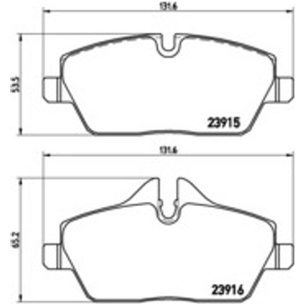 BREMBO - Brake Pad Set, disc brake (P 06 034)