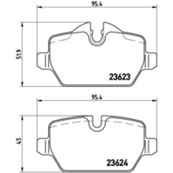 BREMBO - Brake Pad Set, disc brake (P 06 037)