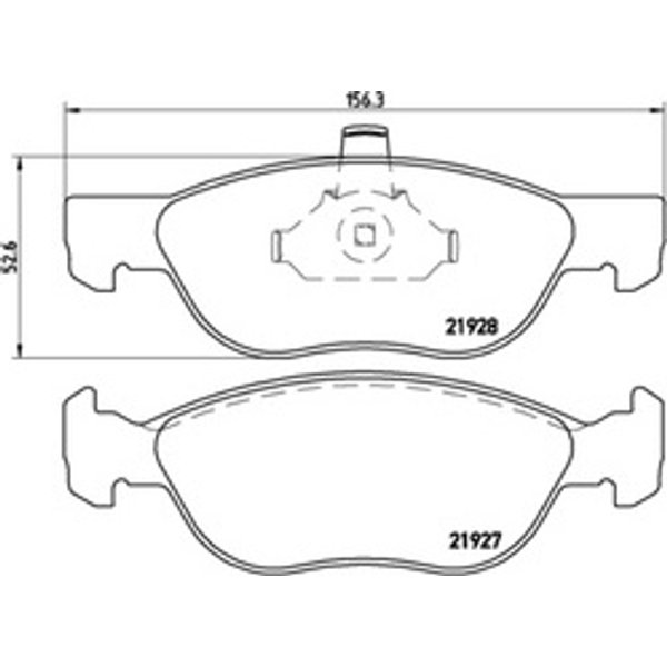 BREMBO - Brake Pad Set, disc brake (P 23 081)