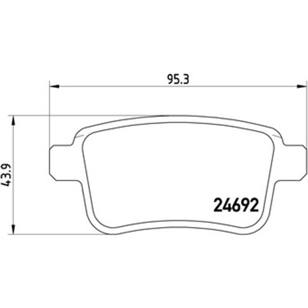 BREMBO - Brake Pad Set, disc brake (P 68 043)