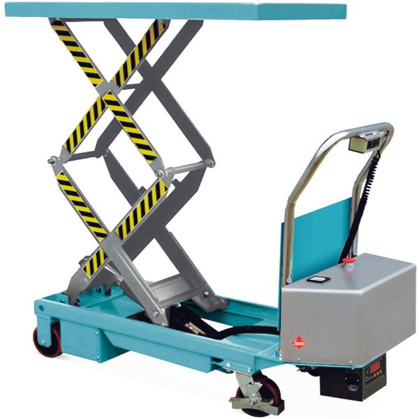 Ameise® Doppelscheren-Hubtischwagen, elektrisch, TK 350 kg, à 910 x 500 mm