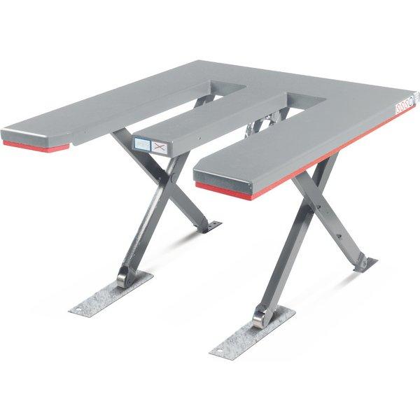 FLEXLIFT Flach-Scheren-Hubtisch, E-förmig, TK 900 kg, Plattform à 1.350 x 1.150 mm, 400 V