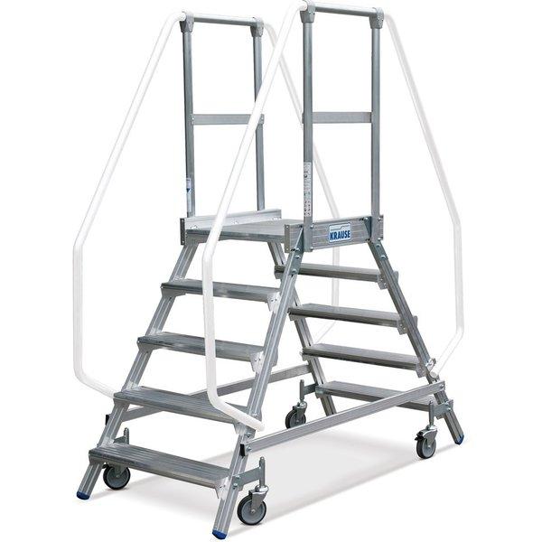 KRAUSE® Podesttreppe, 2-seitig, verfahrbar, Standhöhe 1,20 m