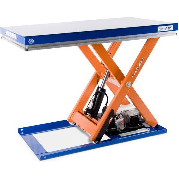 Scheren-Hubtisch EdmoLift® T-Serie, TK 1.000 kg, Plattform à 1.700 x 700 mm