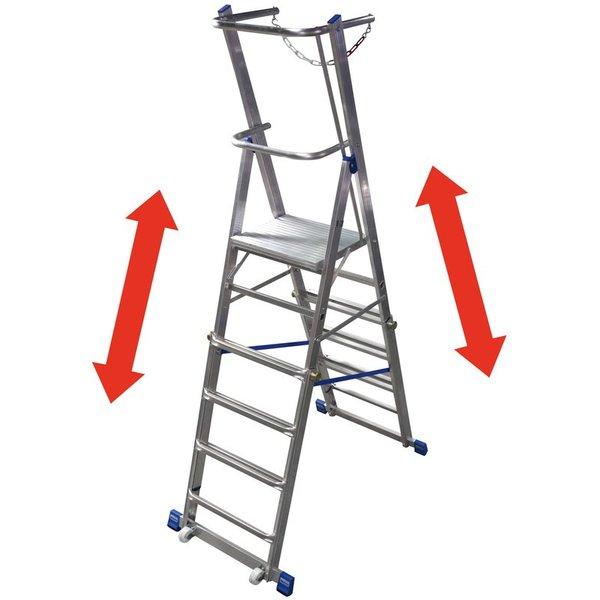 KRAUSE® Teleskop-Plattformleiter, 6-8 Sprossen