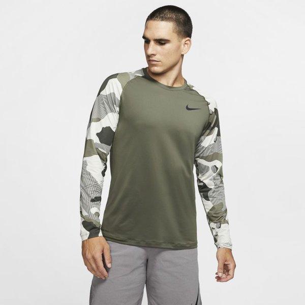 Hautà manches longues Nike Pro pour Homme - Olive