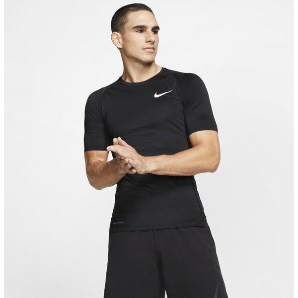 Hautà manches courtes Nike Pro pour Homme - Noir