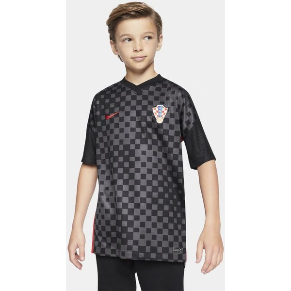 Croatia 2020 Stadium Away Older Kids' Football Shirt - Black