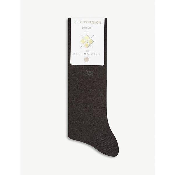 BURLINGTON   Burlington Mens Black Stylish Dublin Cotton Socks   Goxip