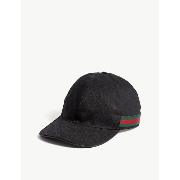 GUCCI   GG Web stripe baseball cap   Goxip