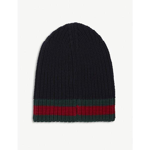 5c8de3e732d GUCCI Striped knitted wool beanie