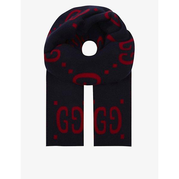 GUCCI | GG wool and silk scarf | Goxip
