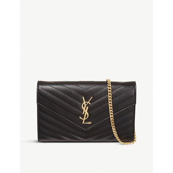 235a108a5607ca SAINT LAURENT | Saint Laurent Monogram quilted leather shoulder bag | Goxip