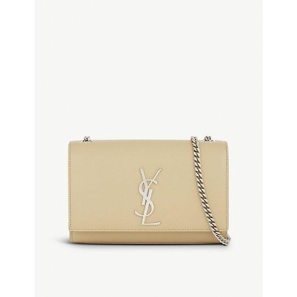 95c88a0e703c Saint Laurent Ladies White Feminine Monogram Kate Leather Shoulder ...