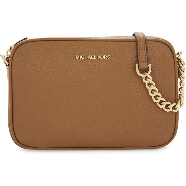 6e3384e1fa55a4 MICHAEL MICHAEL KORS | Ginny medium grained leather cross-body bag | Goxip