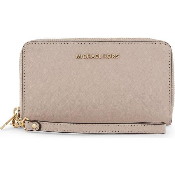 e1fee6a9b067 MICHAEL MICHAEL KORS | Michael Michael Kors Jet set travel large leather  phone wallet, Soft